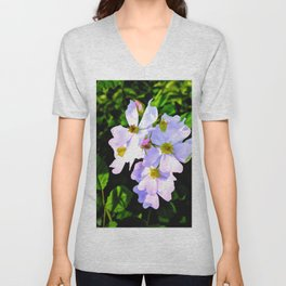 The Wild Rose In Living Color Unisex V-Neck