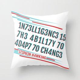 Brainy Quote Throw Pillow