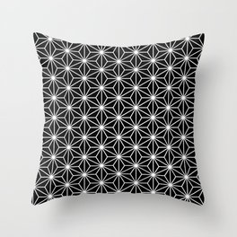 Black geometric pattern Throw Pillow