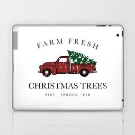 Christmas Tree Farm Vintage Truck Laptop & iPad Skin