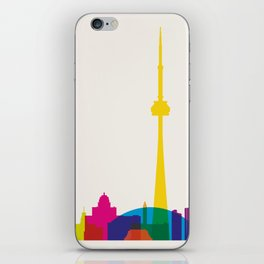 Shapes of Toronto. Accurate to scale iPhone Skin