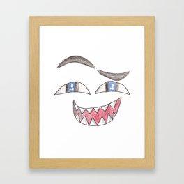 Face! Framed Art Print