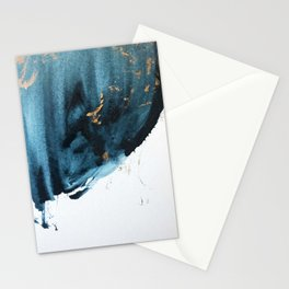 Sapphire and Gold Abstract Stationery Cards