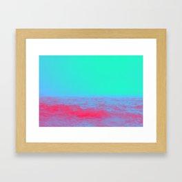 Neon Sea Framed Art Print