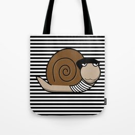 French Snail ~ Escargot Tote Bag