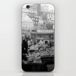 """Valparaiso Chile: Waterfront district showing """"ascensors"""" up to top of bluff. June, 1941. iPhone Skin"""