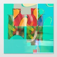 pool Canvas Prints featuring POOL by  ECOLARTE
