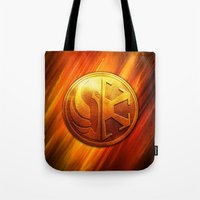 daenerys Tote Bags featuring IMPERIAL LOGO by BeautyArtGalery