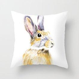 Hare Bunny Throw Pillow