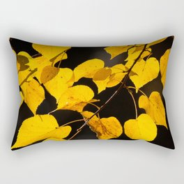 Autumn Foliage Yellow Leaves #decor #buyart #society6 Rectangular Pillow