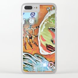 Abstract 82-89 Clear iPhone Case