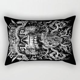 Aztec Skull Rectangular Pillow