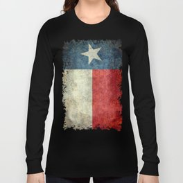 Texas state flag, Vintage banner version Long Sleeve T-shirt