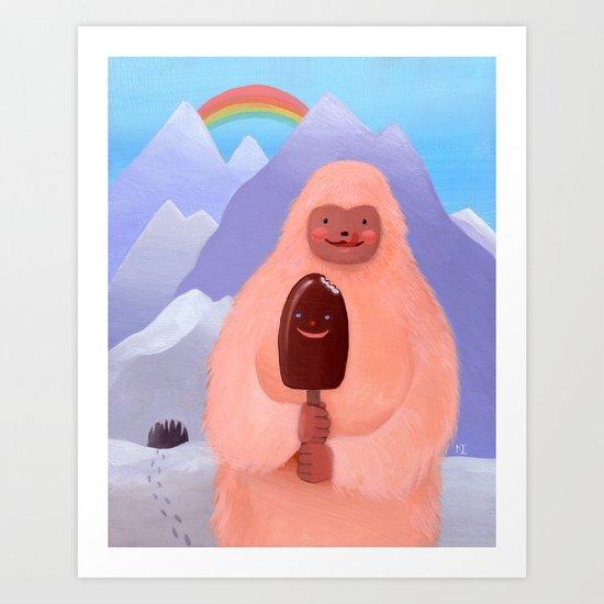"""Herbert Sherbert """"Ice Cream Yeti"""" Print Art Print"""