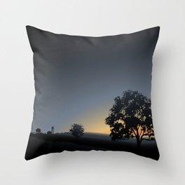 sunrise views Throw Pillow