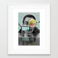 dali Framed Art Prints featuring DALI by Marian - Claudiu Bortan