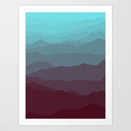 Ombré Range No. 1 Art Print