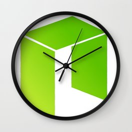 NEO Cryptocurrency Design Wall Clock