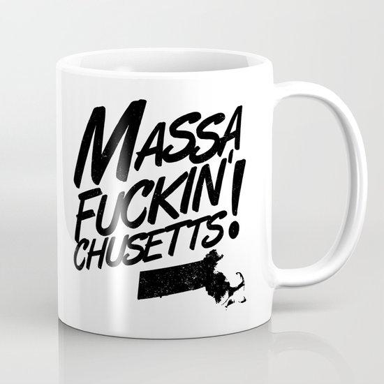 Massa-Fuckin'-Chusetts! (black) Mug
