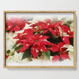 Shimmer Surprise Poinsettias Serving Tray