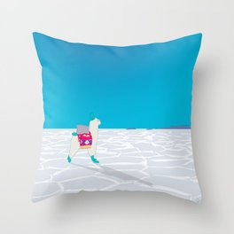 Bolivia Salt Flats Travel Poster Throw Pillow
