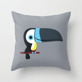 Cute channel billed toucans Throw Pillow