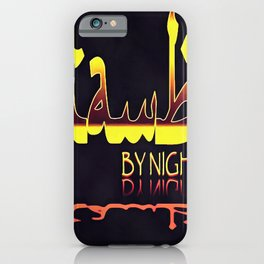 Istanbul By Night Skyline Cityscape Typography iPhone Case