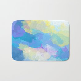 Colorful Abstract - blue, pattern, clouds, sky Bath Mat