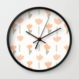 Spring Rain Pattern  Wall Clock