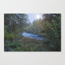 Moonlit River Canvas Print