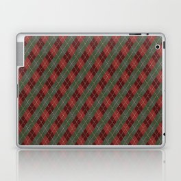 Red Green Plaid Gingham Christmas Holiday Laptop & iPad Skin