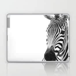 Black and white zebra illustration Laptop & iPad Skin