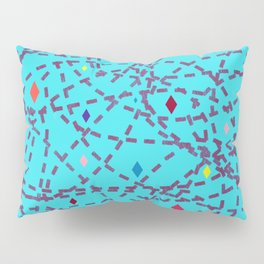 Abstract #150 Diamonds and Dashes Pillow Sham