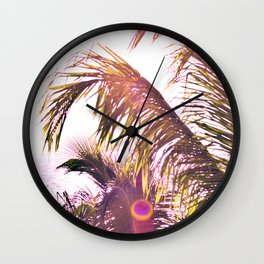 Peering in the Looking Glass Wall Clock