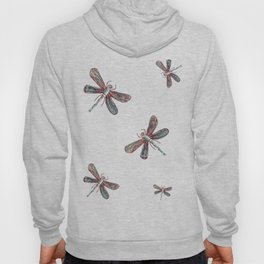Teal Dragonfly (Red or white b/g) Hoody