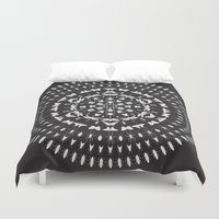 insect Duvet Covers featuring Insect Mandala by Thomas Terceira