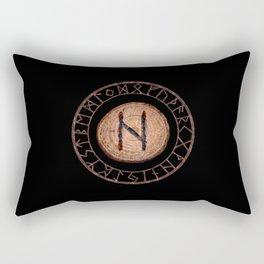 Hagalaz - Elder Futhark rune Rectangular Pillow