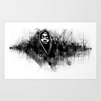 2pac Art Prints featuring 2Pac Illustration by Skillmatik by Mr Skillmatik