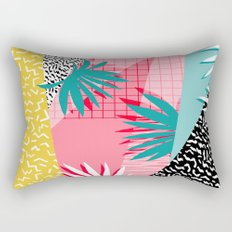 Bingo - throwback retro memphis neon tropical socal desert festival trendy hipster pattern pop art  Rectangular Pillow