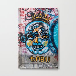 Tabu Graffiti Metal Print