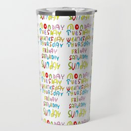 days in a week 1- day,week, daytime,dia,semana,child,school Travel Mug