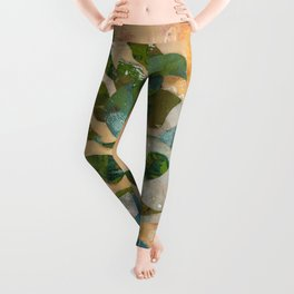 House plant paper mosaic Leggings