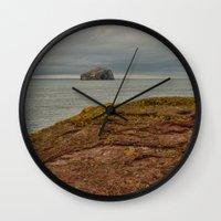 bass Wall Clocks featuring Bass Rock by Best Light Images