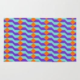 Tricolor Steps Orange Purple & Teal Rug