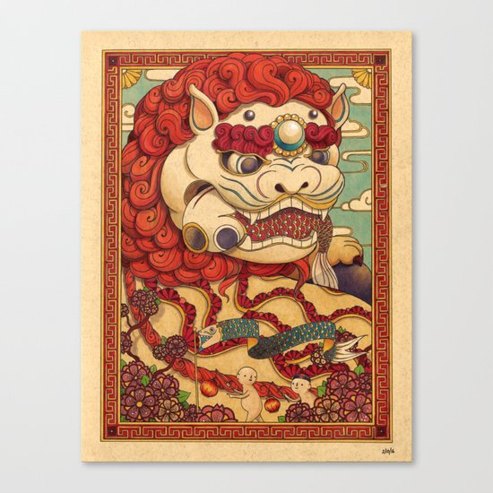 Chinese Lion Canvas Print