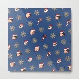 Reylo Christmas - Blue Metal Print