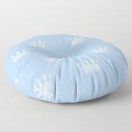 Louis Blue Crowns- Prince of Cambridge Floor Pillow