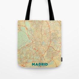 Madrid Map Retro Tote Bag
