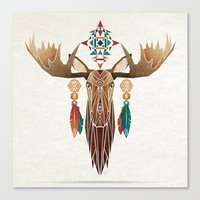 moose Canvas Prints featuring moose by Manoou