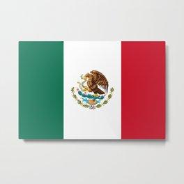 Mexico Flag Mexican Patriotic Metal Print